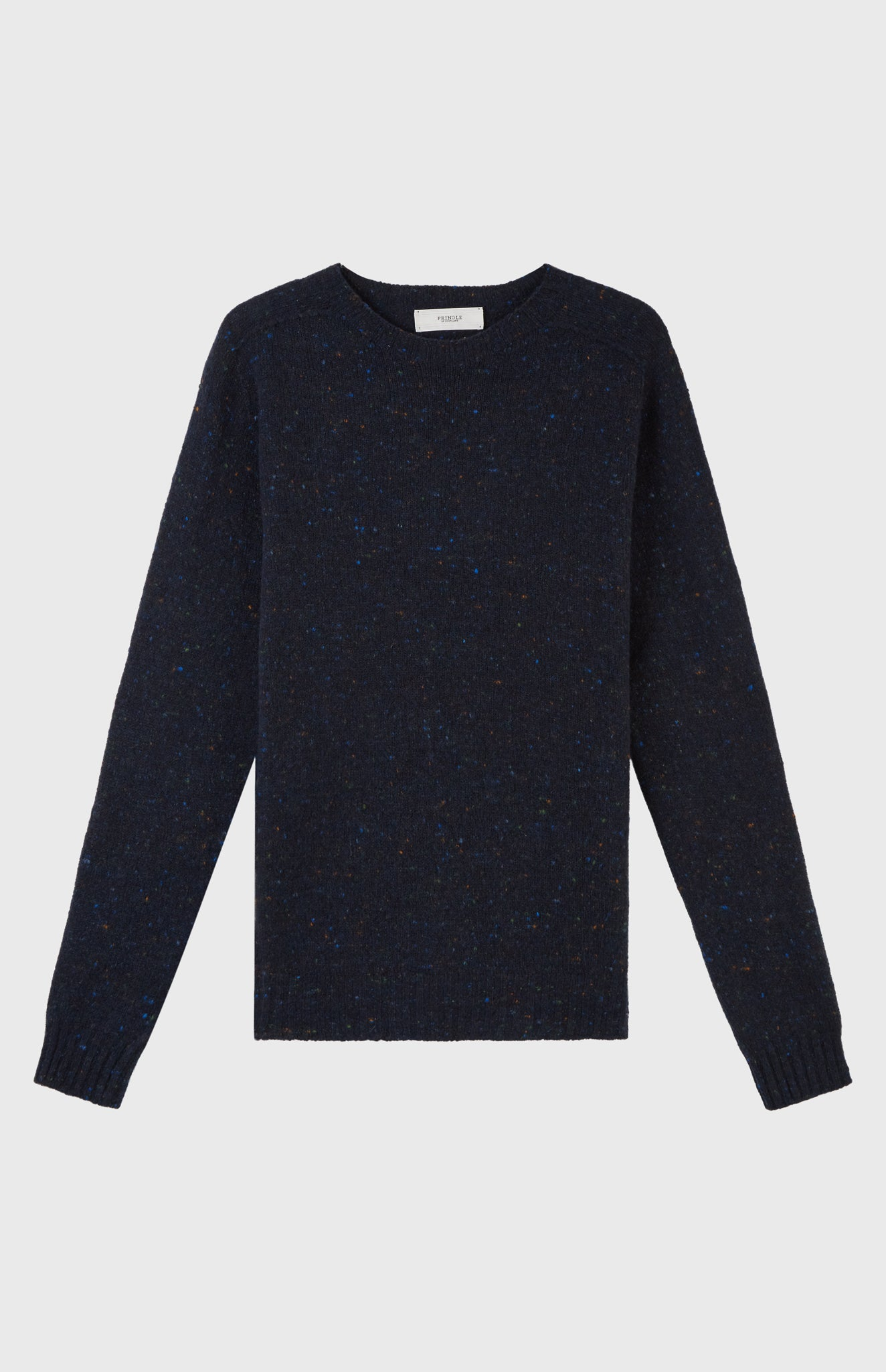 Casual Round Neck Jumper In Ink