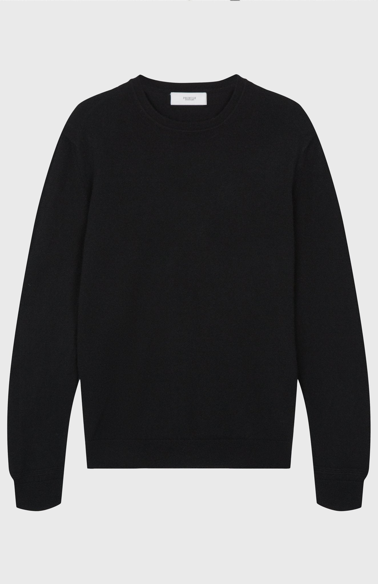 Men's Scottish Cashmere Round Neck Jumper In Black