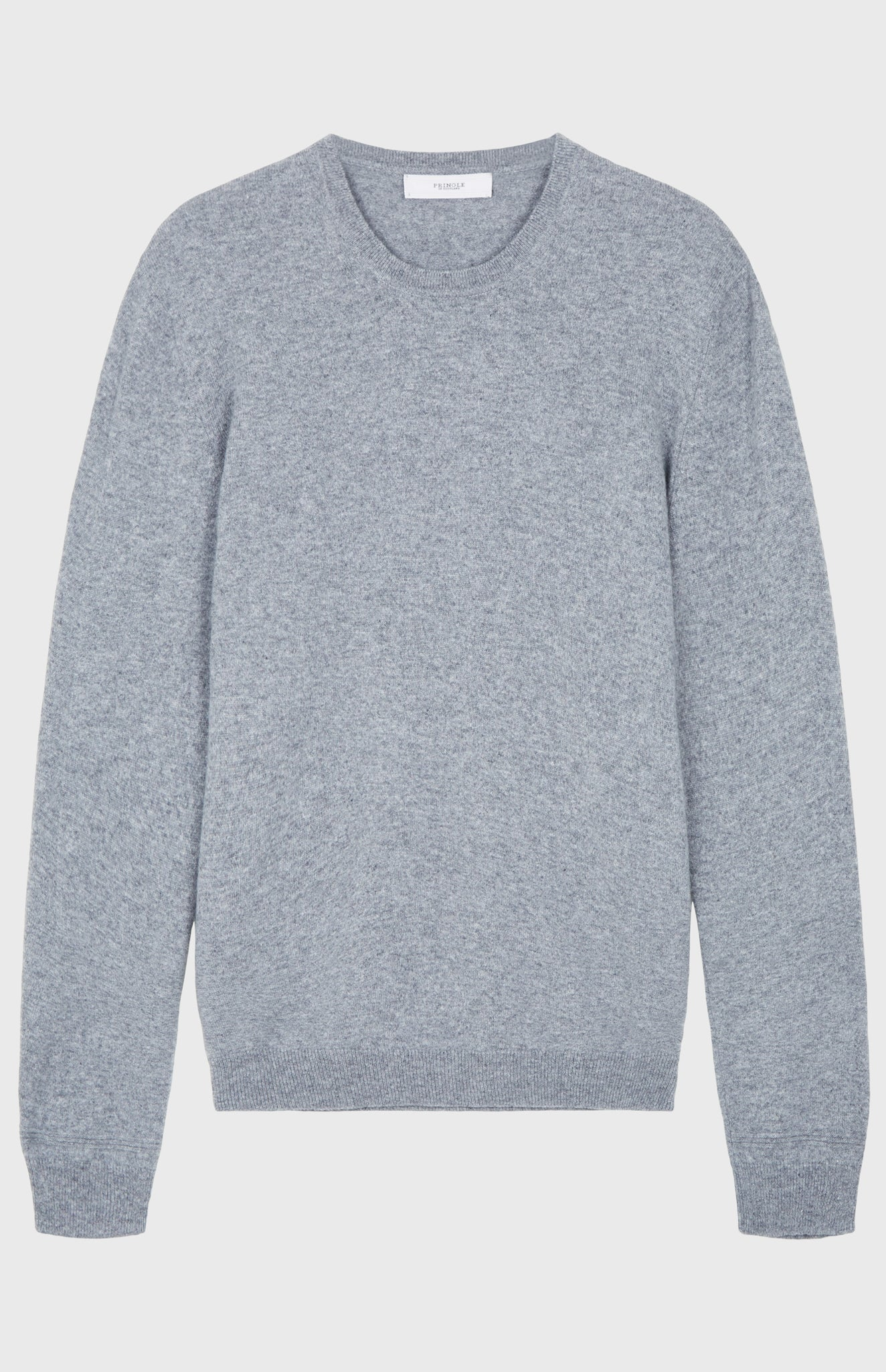 Men's Scottish Cashmere Round Neck Jumper In Flannel Grey