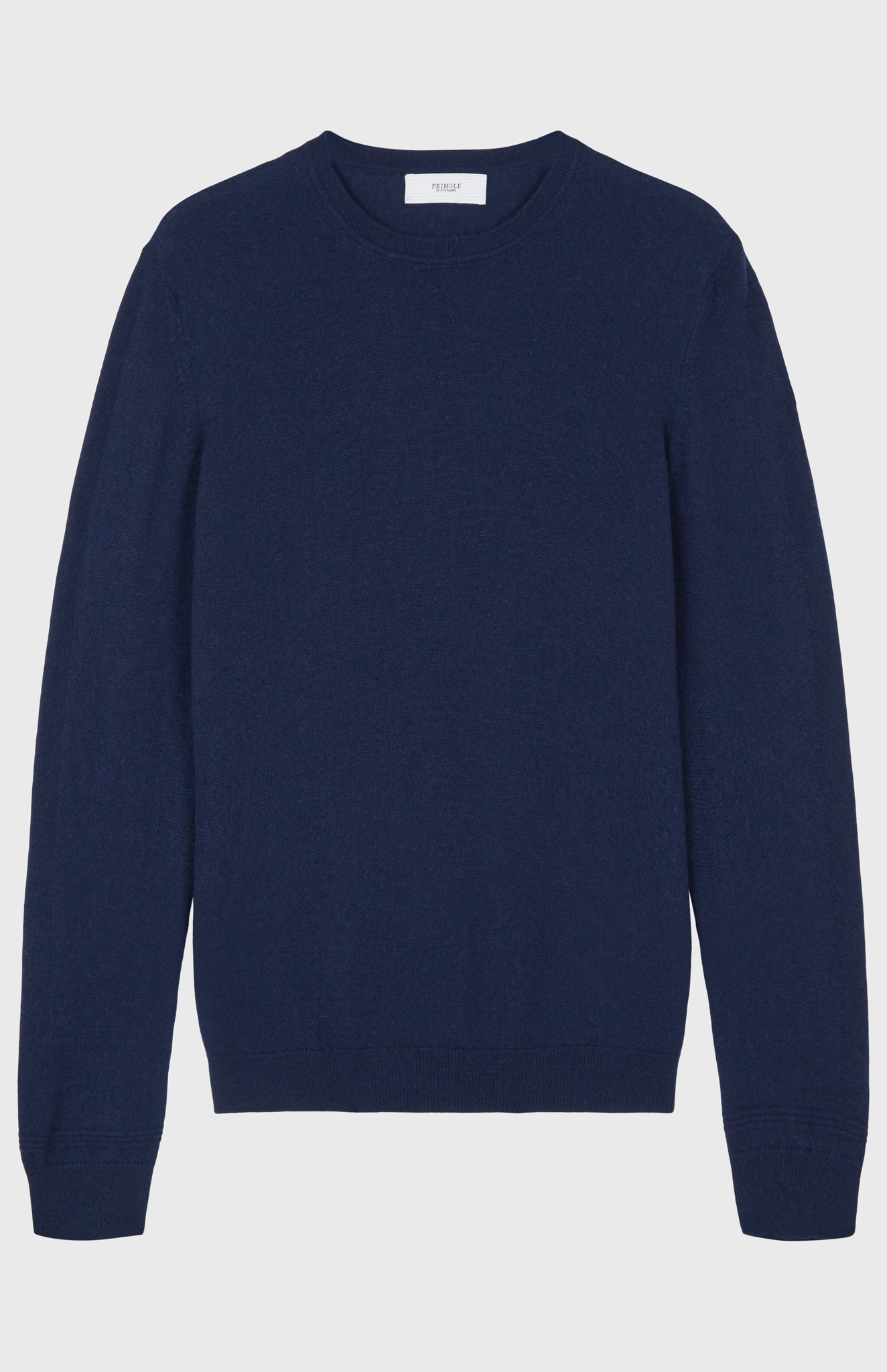 Men's Scottish Cashmere Round Neck Jumper In Ink