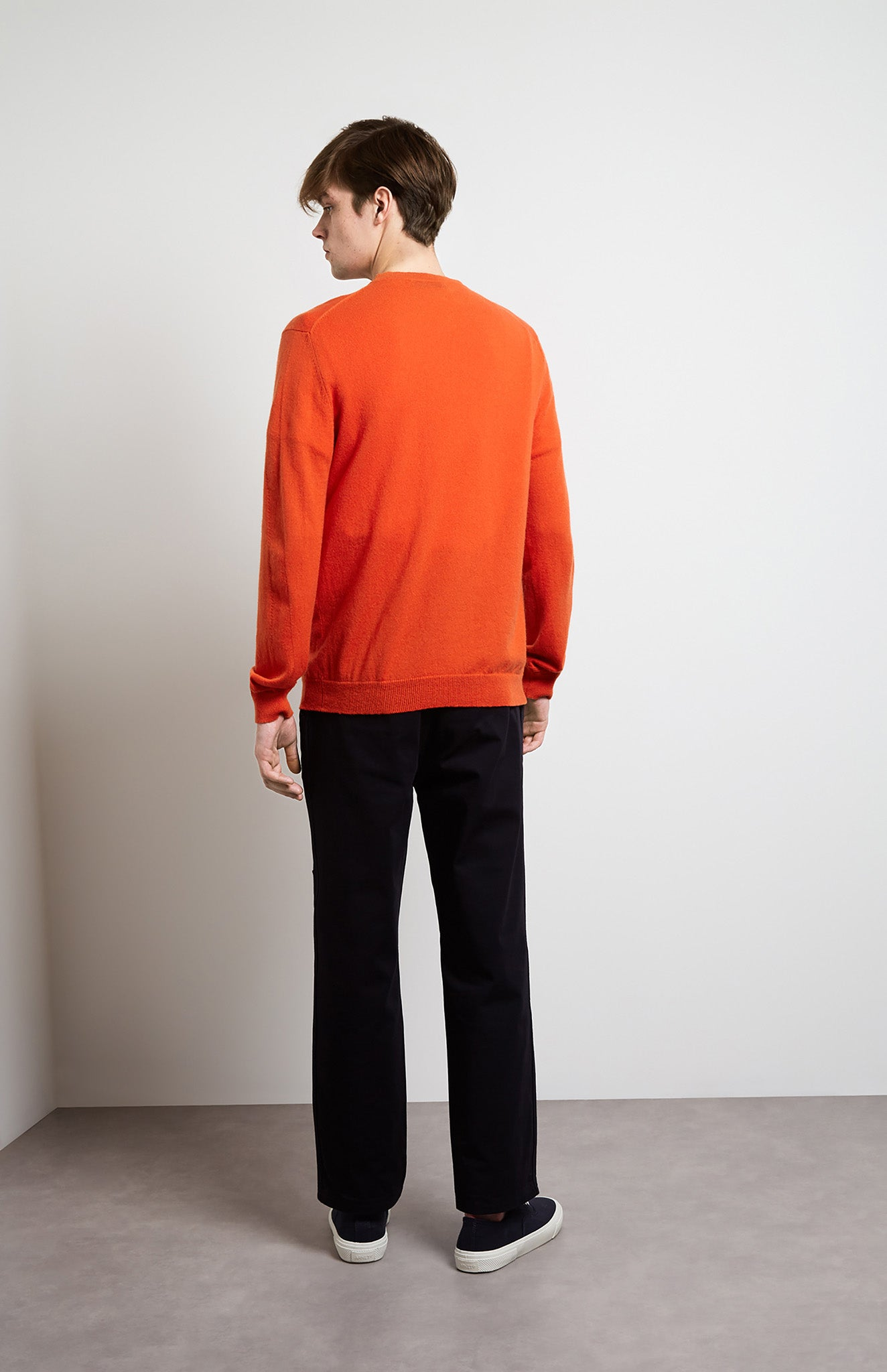 Scottish Cashmere Jumper In Orange