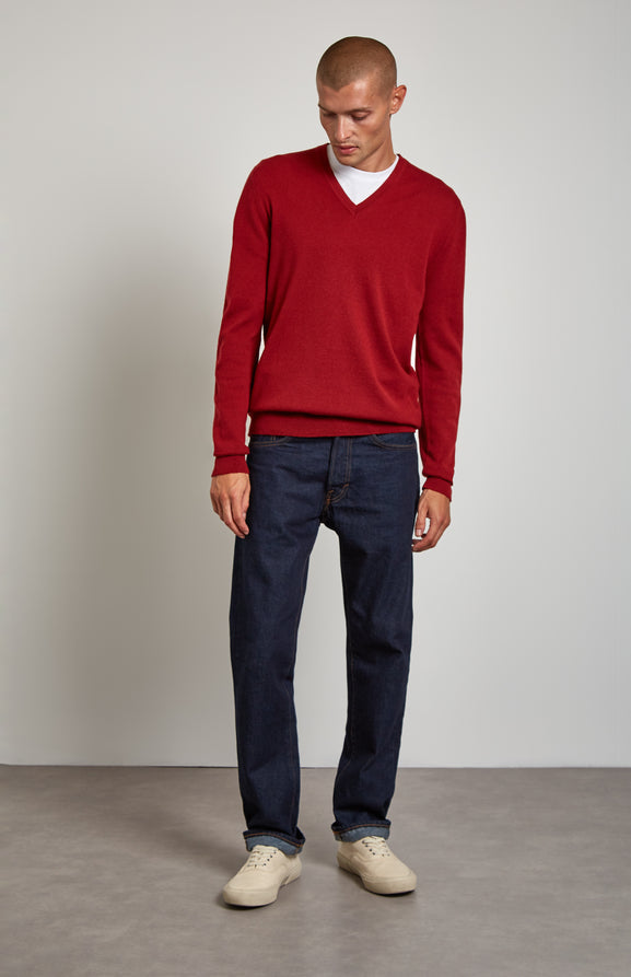 Cashmere Jumper In Red