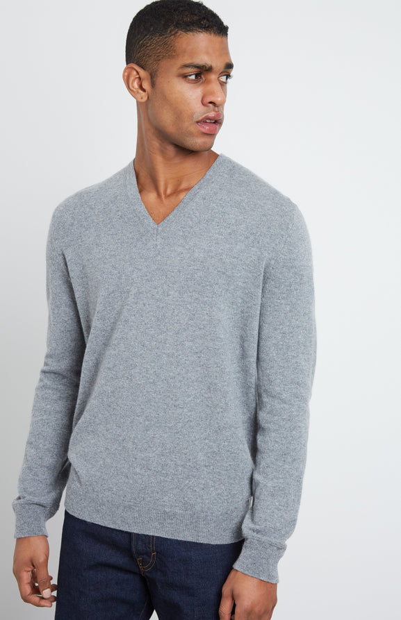 Cashmere Jumper In Grey