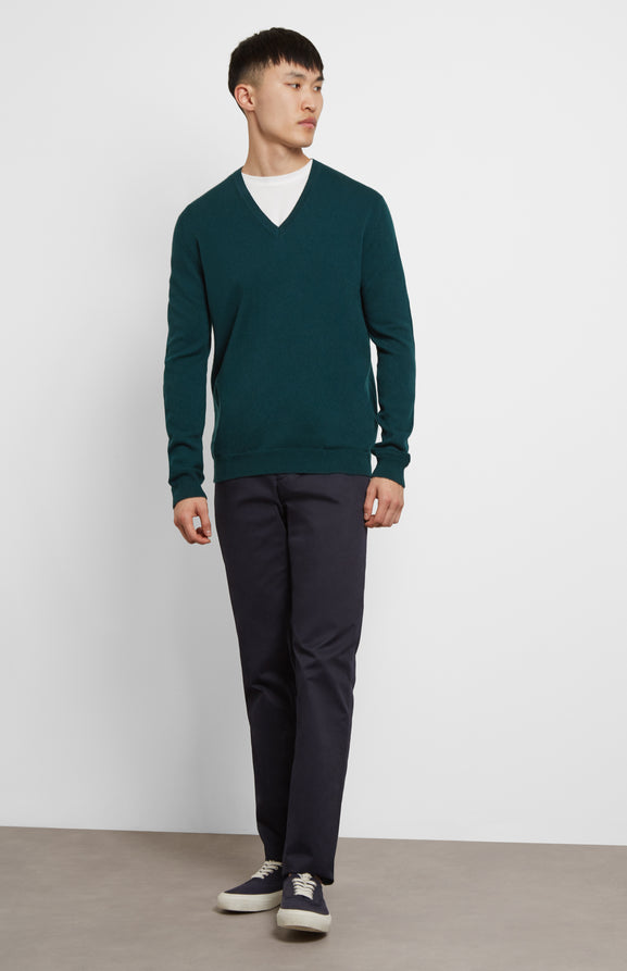 Scottish Cashmere Jumper In Green