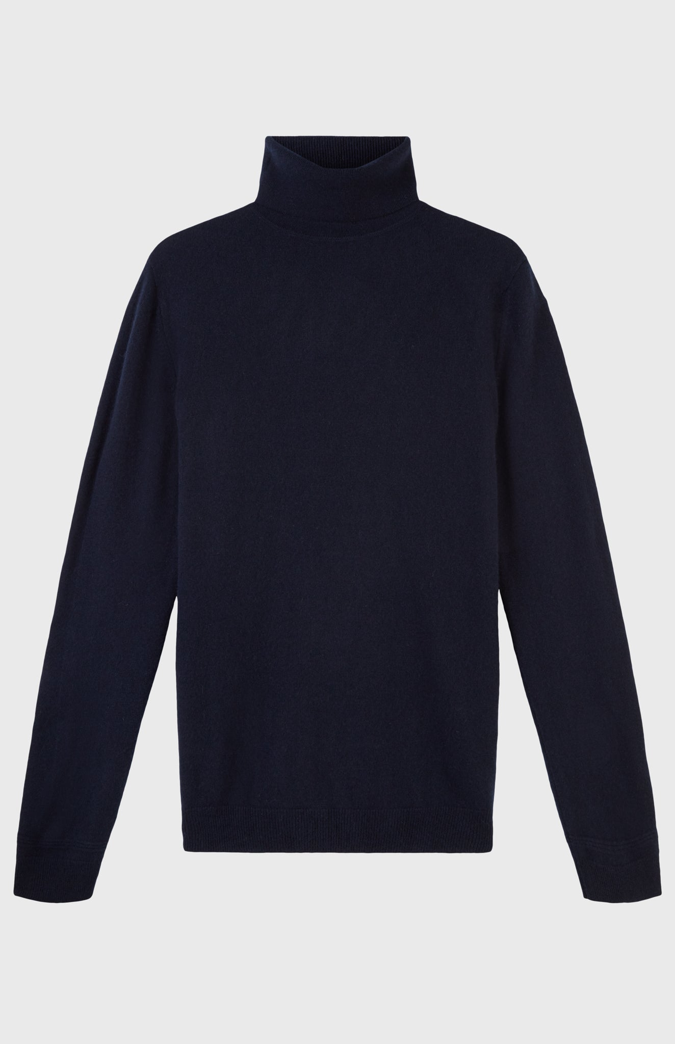 Roll Neck Cashmere Jumper In Ink