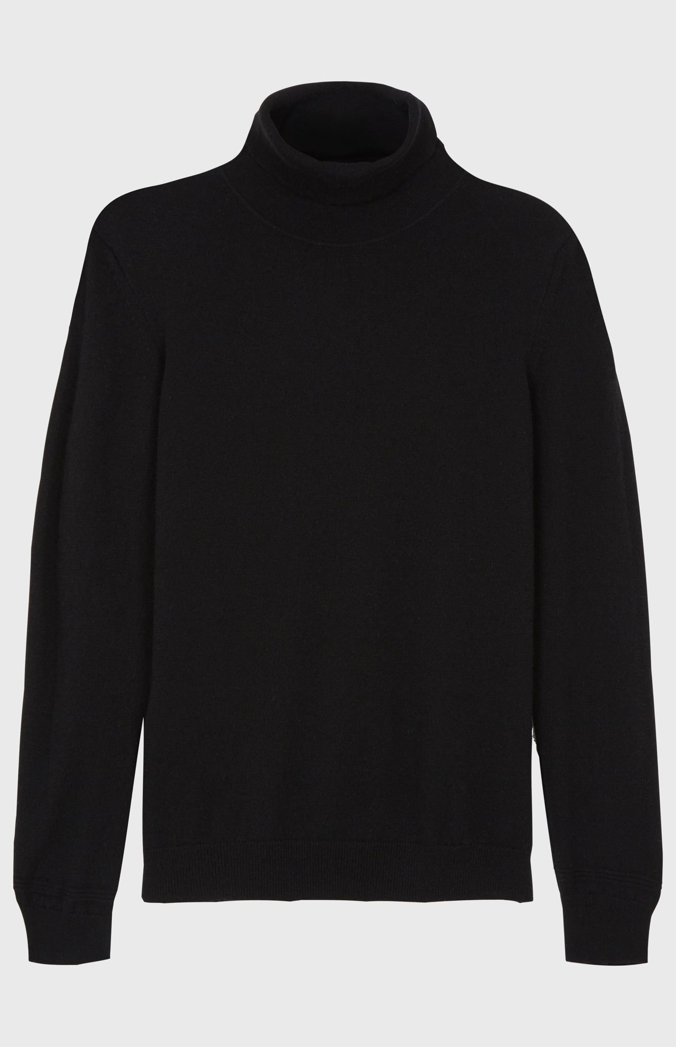 Roll Neck Cashmere Jumper In Black