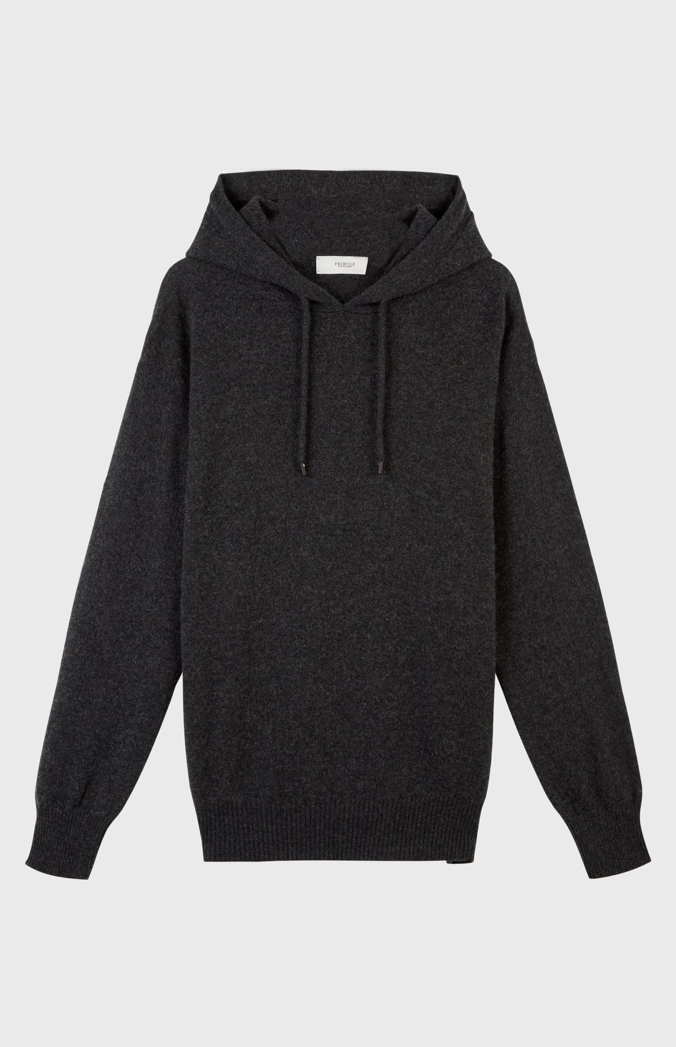Off Gauge Cashmere Hoodie In Charcoal