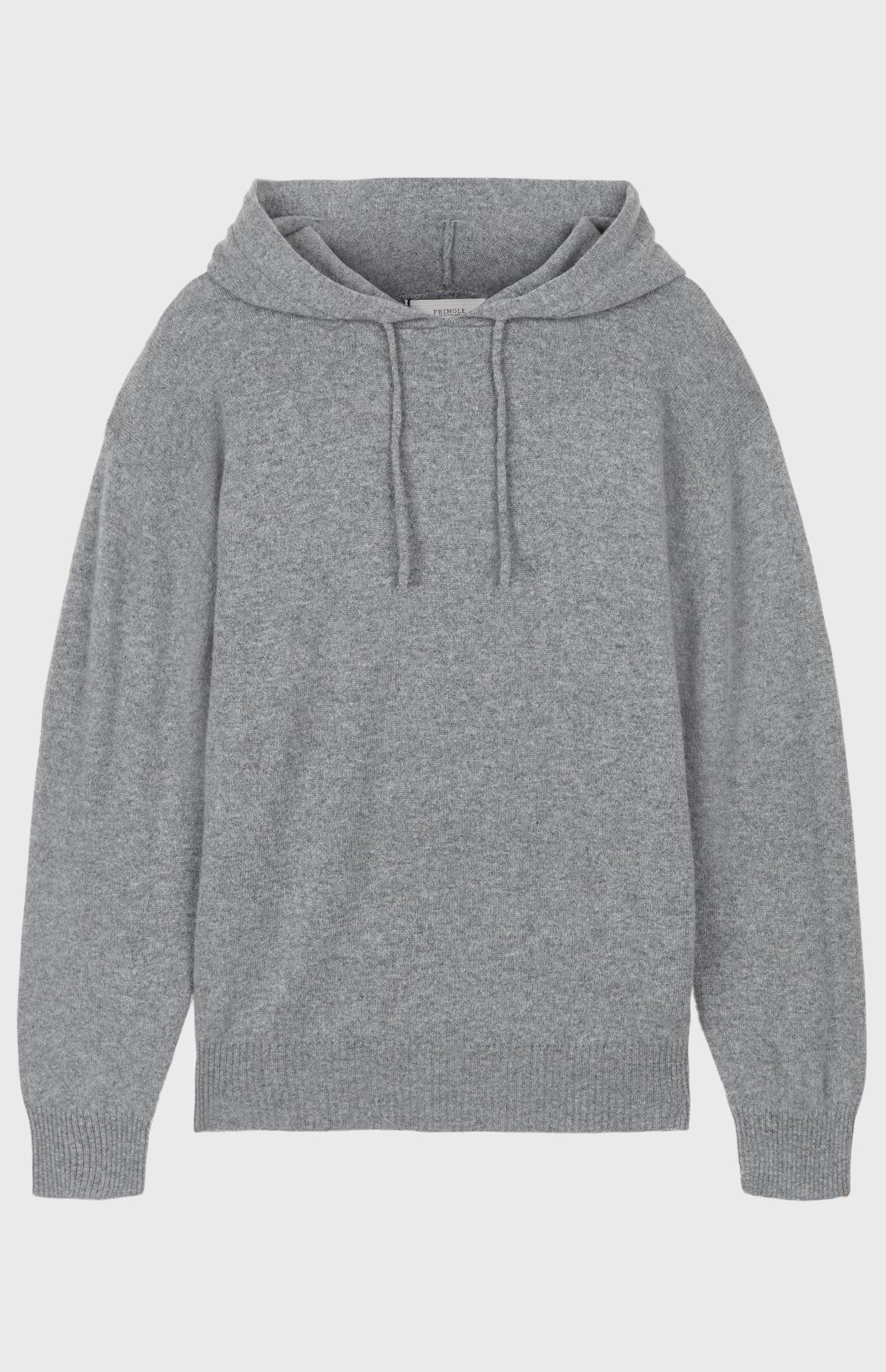 Off Gauge Cashmere Hoodie In Flannel Grey