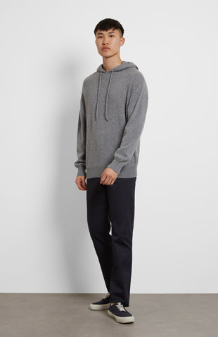 Off Gauge Cashmere Hoodie in Grey