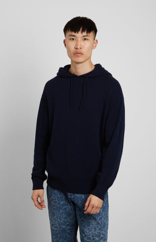 Off Gauge Cashmere Hoodie In Blue