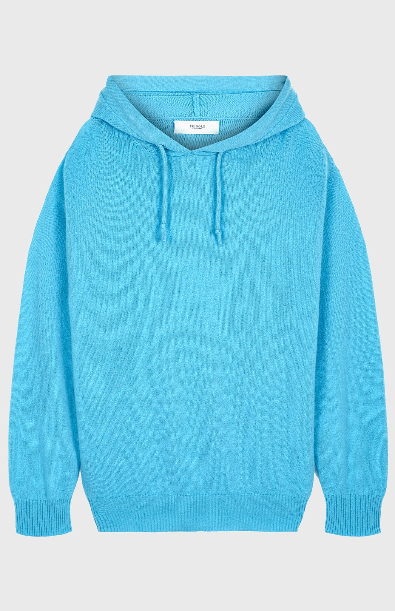 Off Gauge Cashmere Hoodie In Pool Blue