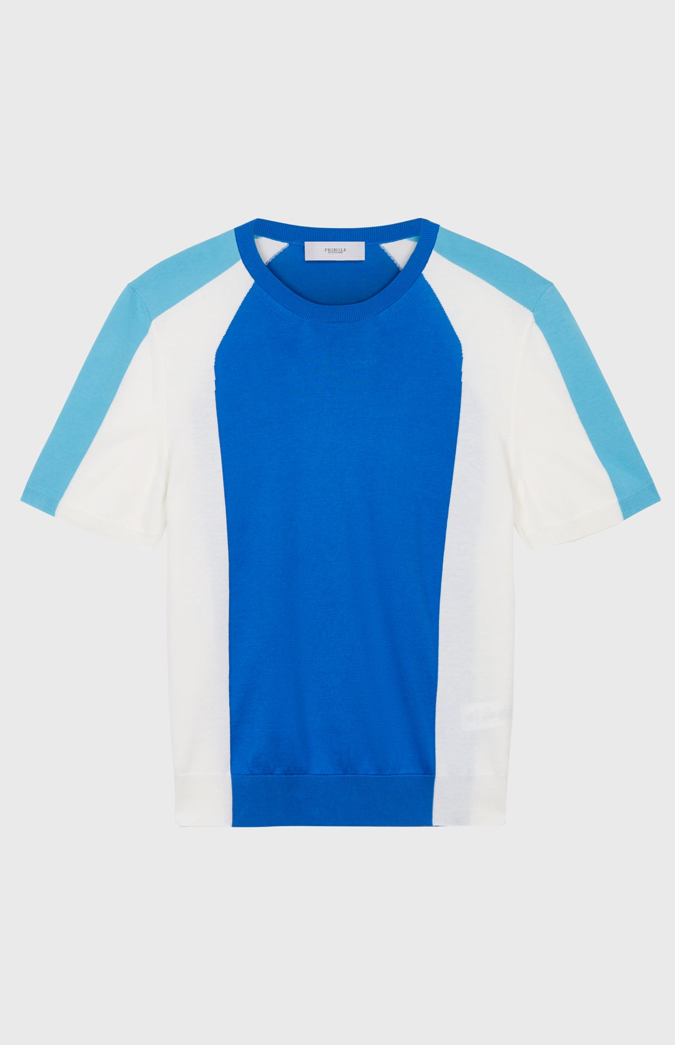 Colour Block Short Sleeved Jersey In Cobalt Blue/Optic White