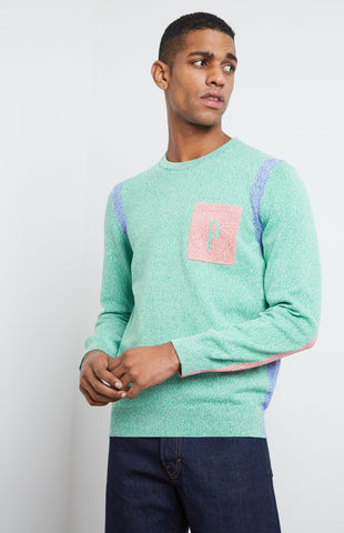 Tech Knit Jumper In Grass