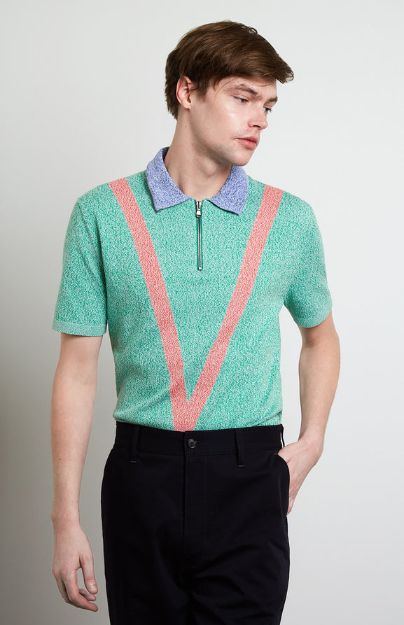 Tech Knit Polo Shirt In Grass