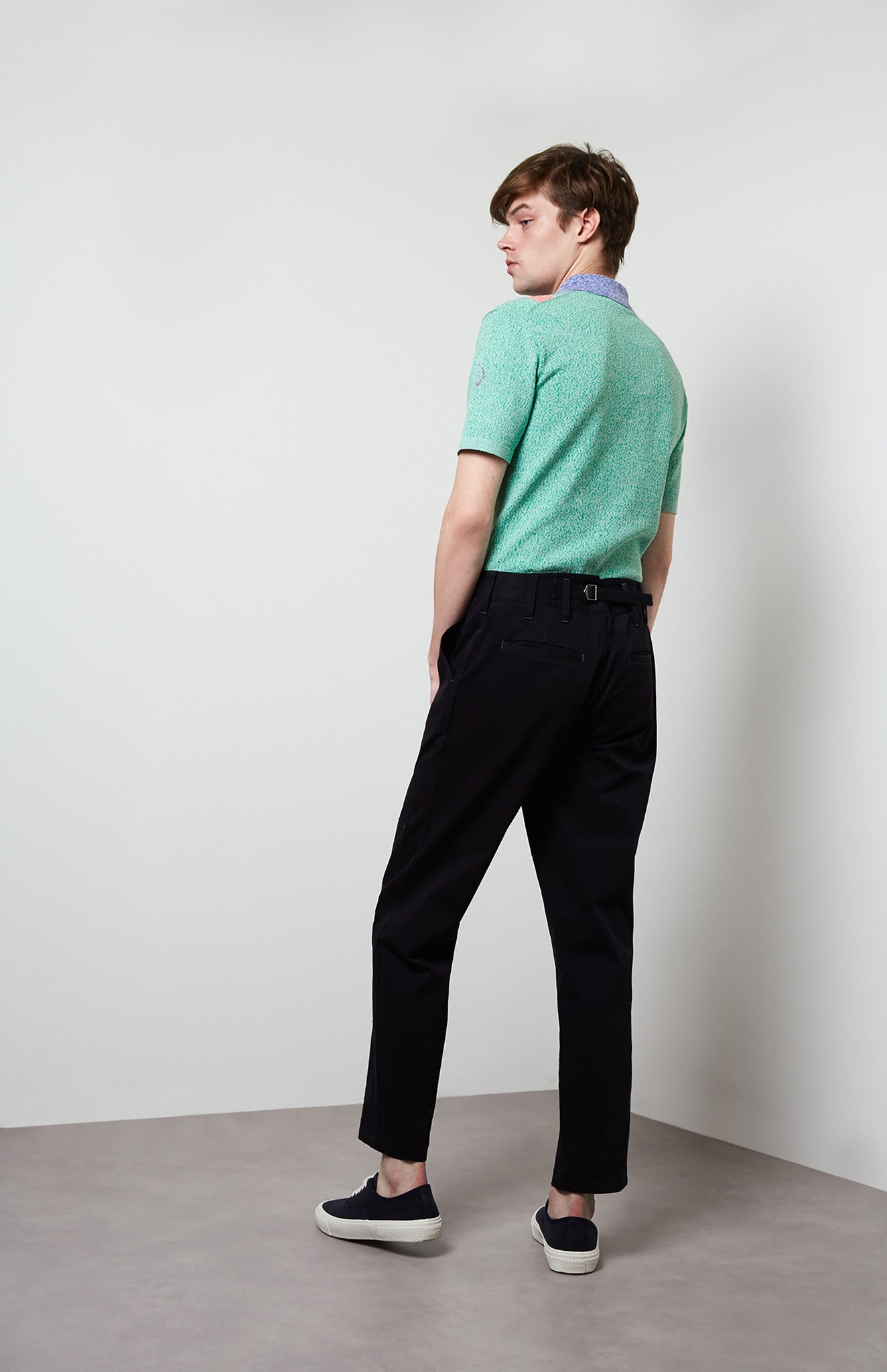 Tapered Trousers In Ink