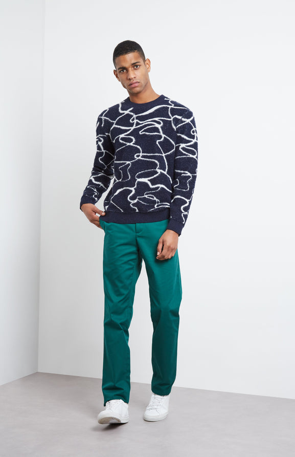 Cashmere Blend Reflections Jumper In Ink