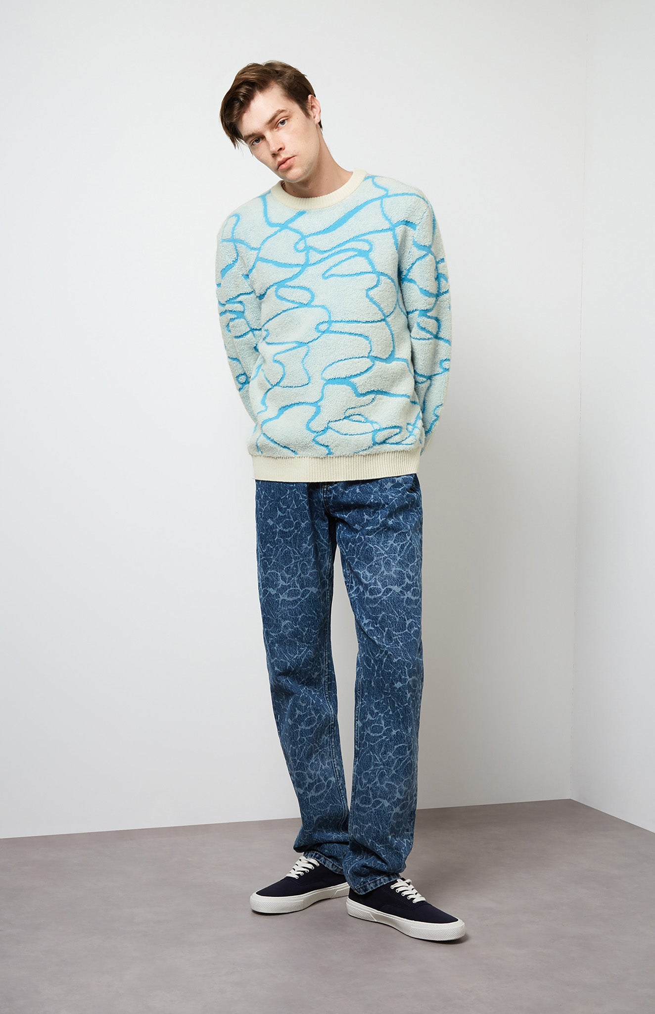 Reflections Jumper In Pool Blue