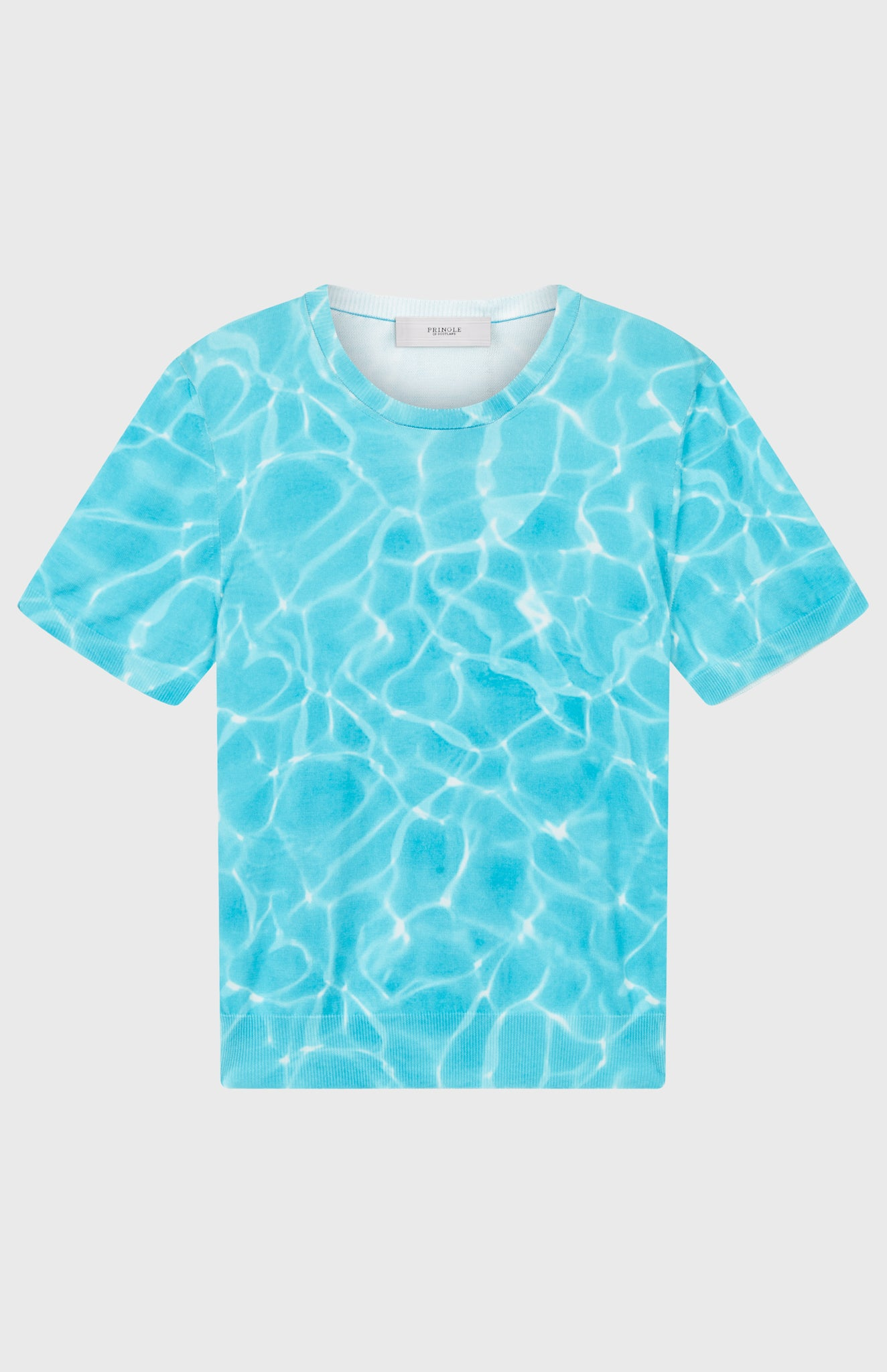 Reflections T-shirt In Optic White/Pool Blue