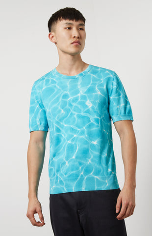 Reflections Cotton T-shirt In Blue/White