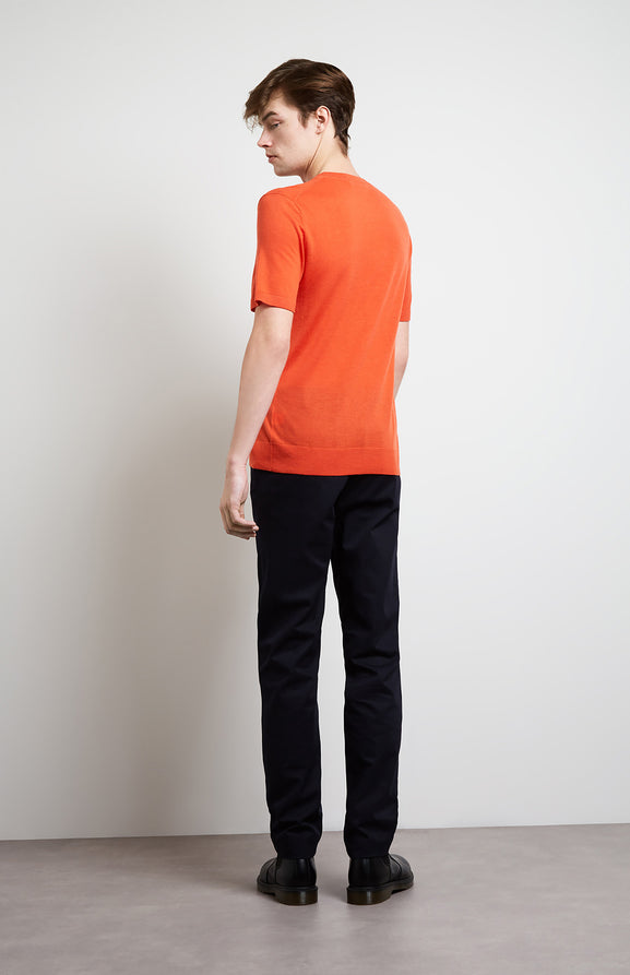 Men's Merino T-shirt In Tangerine