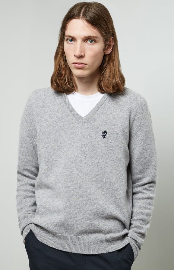 Lambswool Jumper In Grey