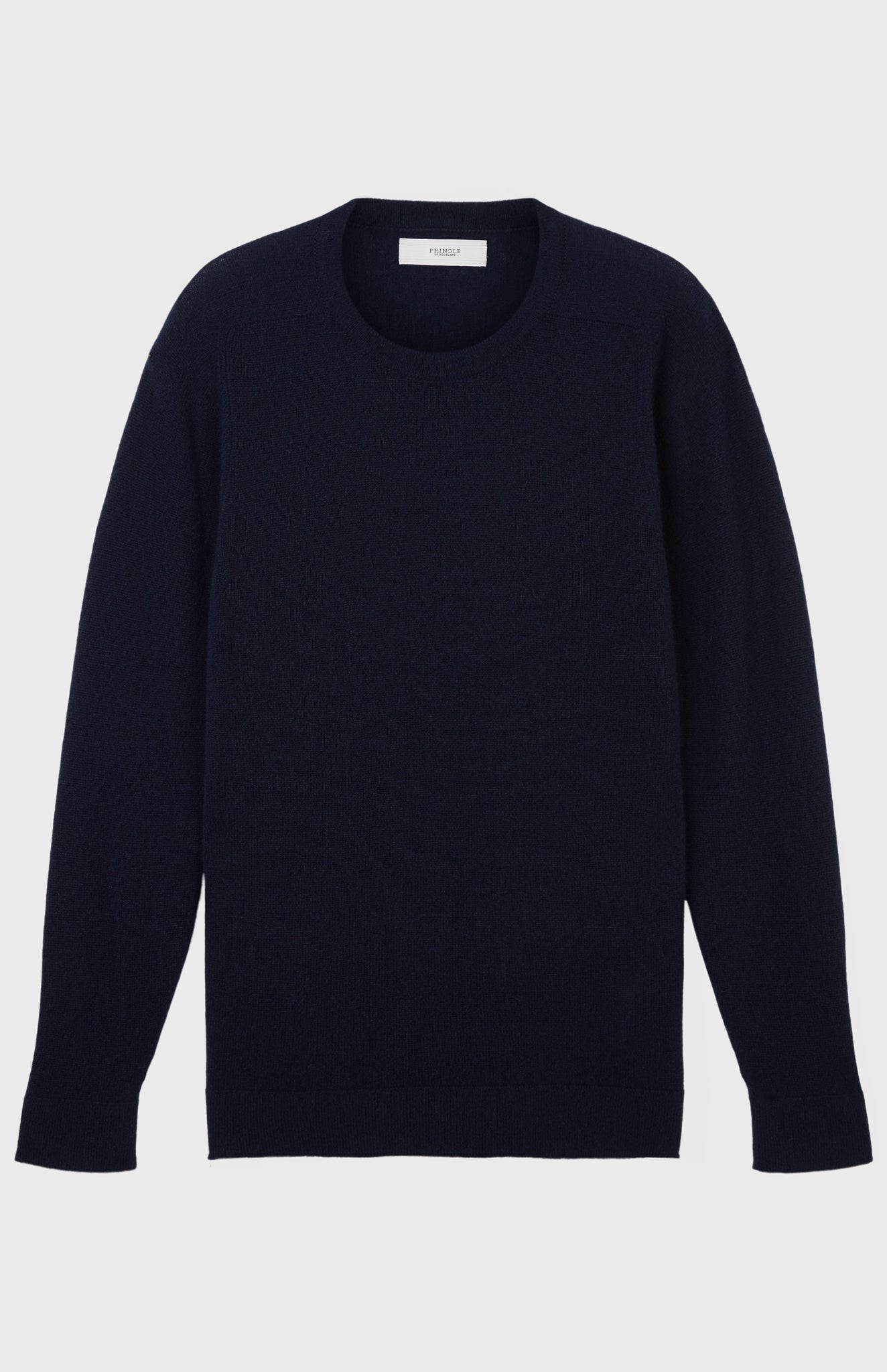 Men's Off Gauge Round Neck Cashmere Jumper In Ink