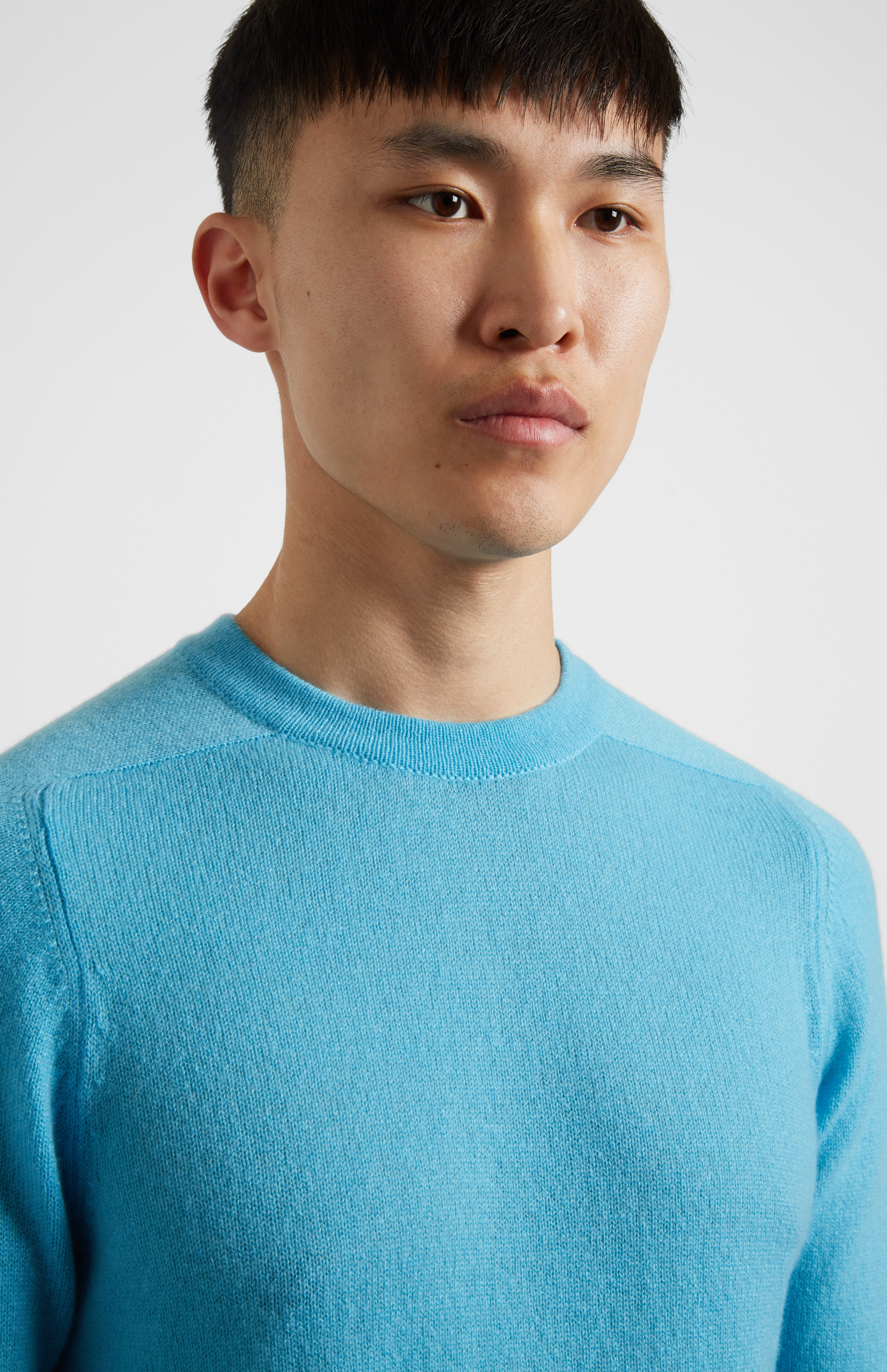 Lightweight Cashmere Jumper In Blue