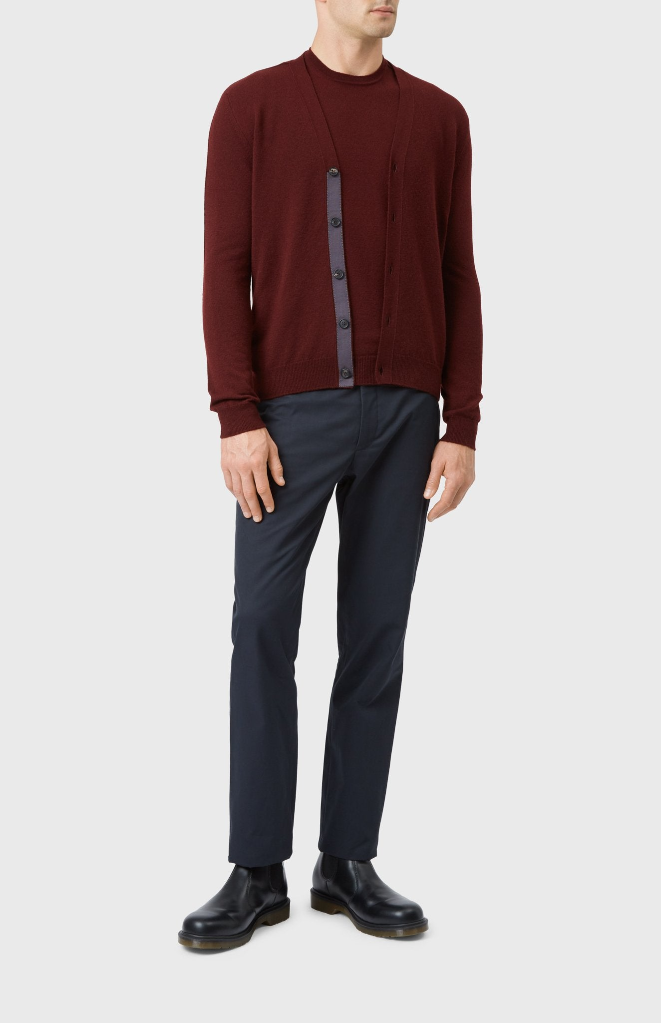 Men's Classic Cashmere Cardigan In Sloe