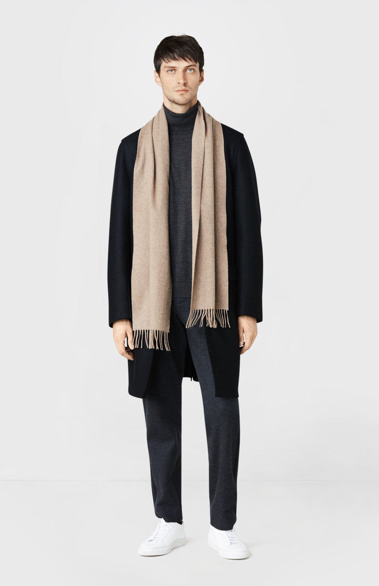 Classic Cashmere Scarf in Oatmeal