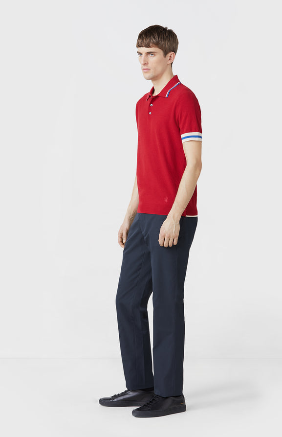 Straight Leg Trousers in Navy