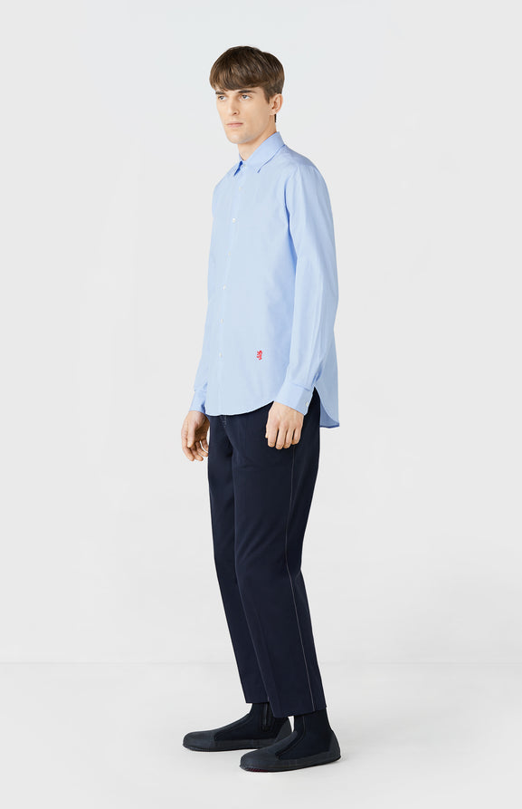 Cotton Poplin Shirt in Sky Blue