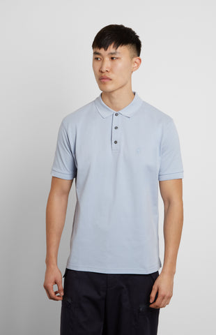 Cotton Polo Shirt In Blue