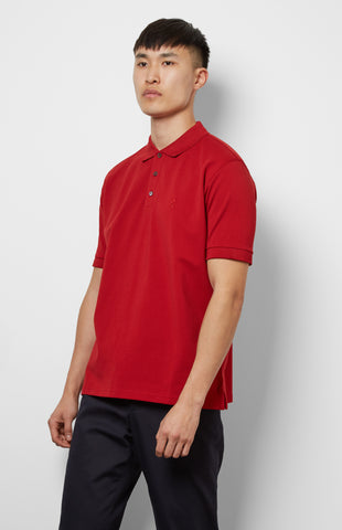 Cotton Polo Shirt In Red