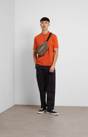 Cotton Polo Shirt In Orange