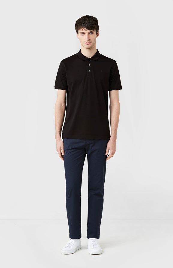 Colour Polo Shirt In Black