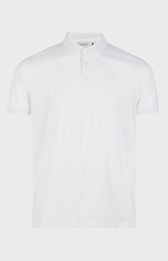 Colour Polo Shirt In Optic White