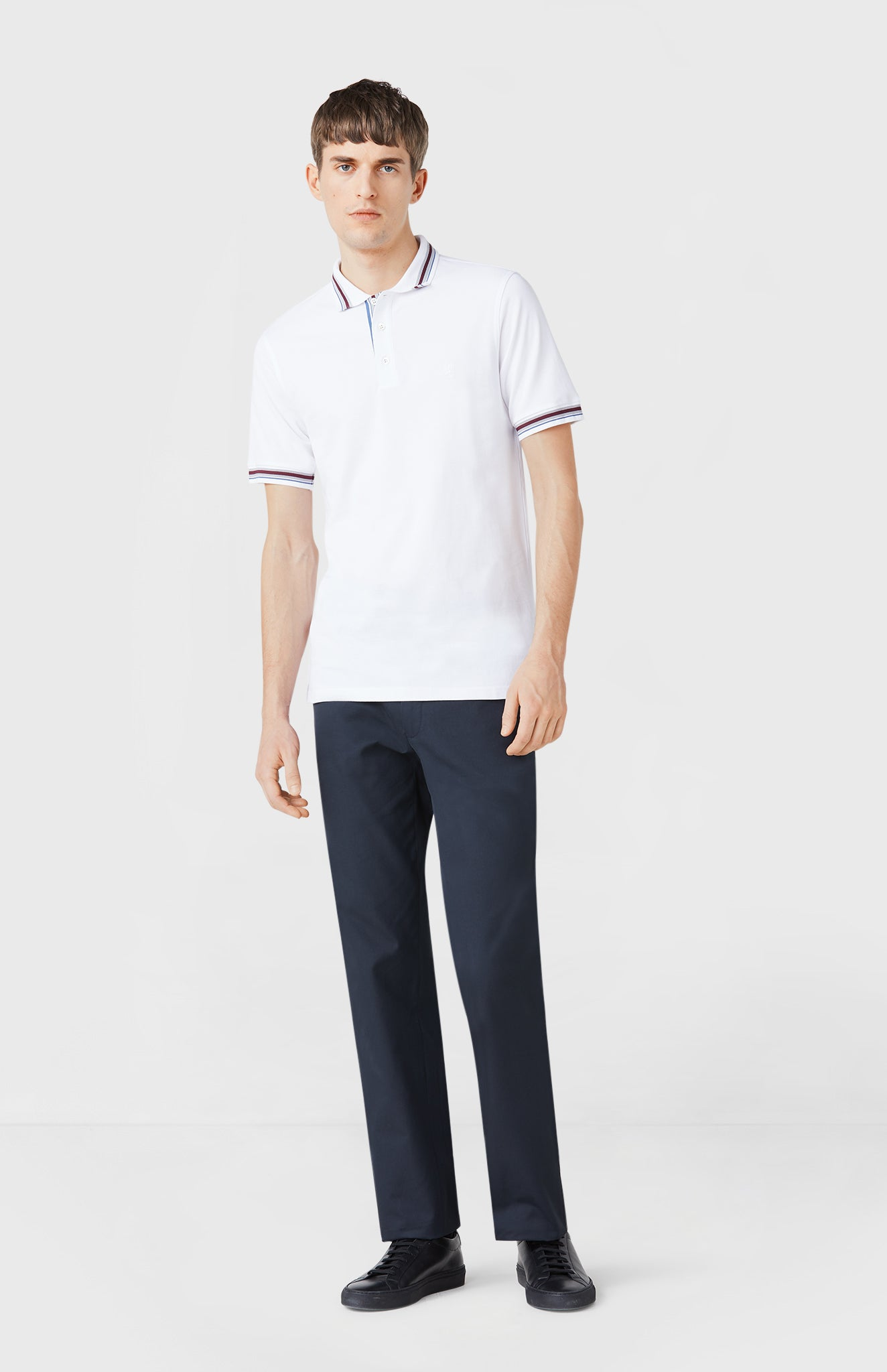 Classic Cotton Polo Shirt in Optic White