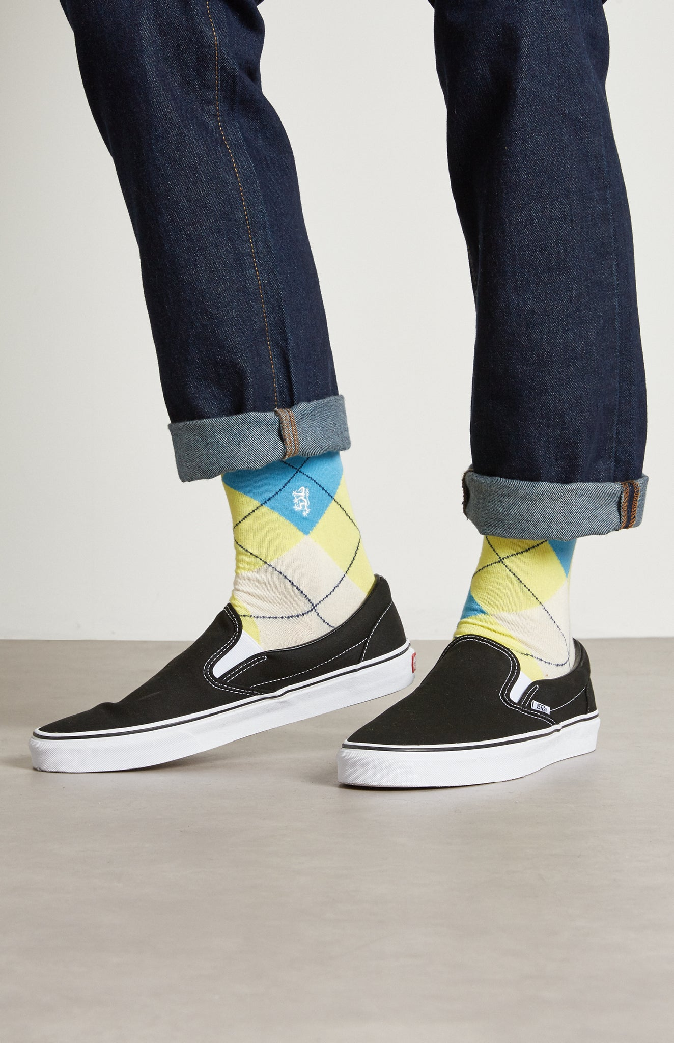 Pringe reissued Men's Classic Argyle Socks In Multi Lime