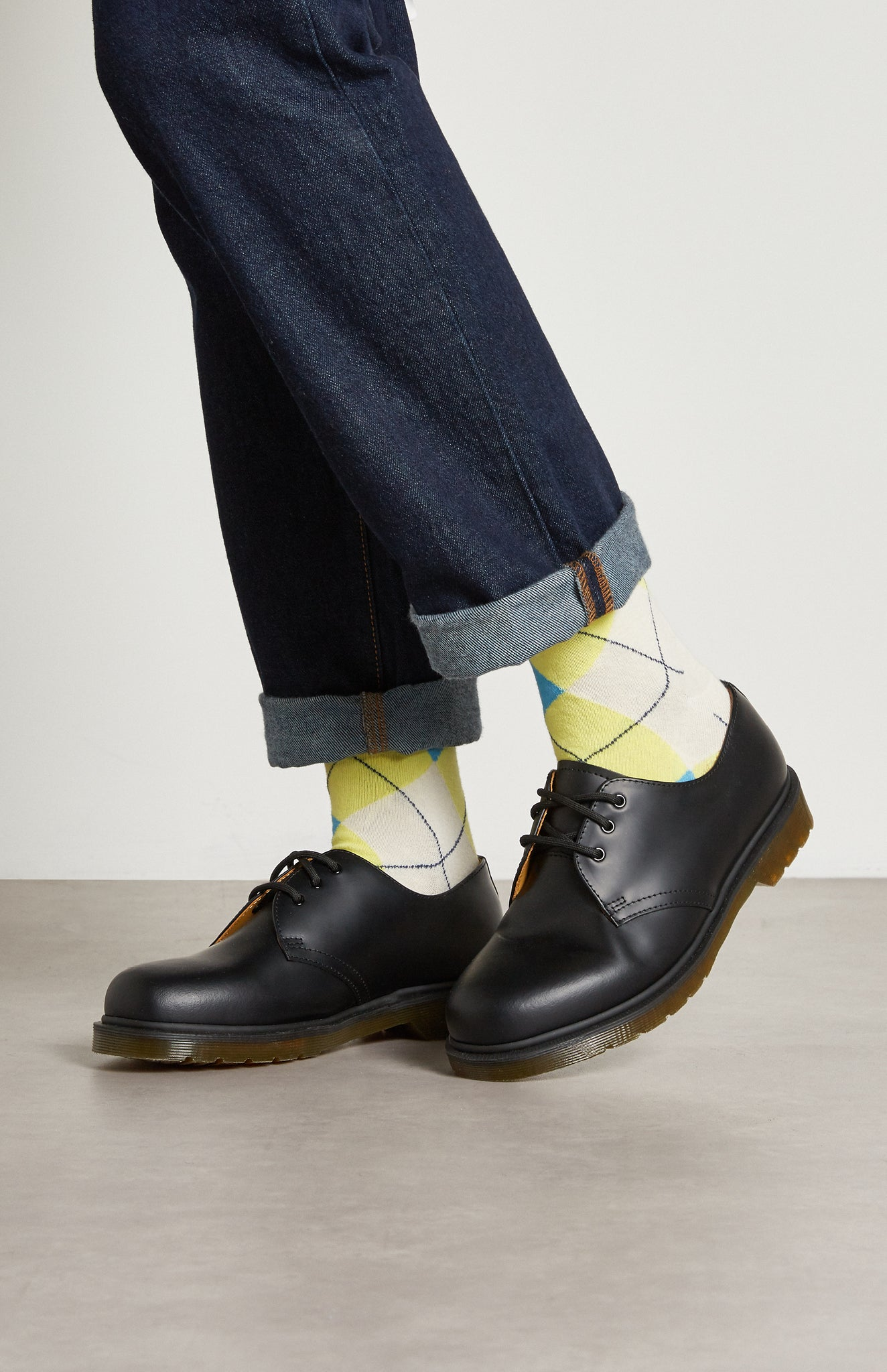 Pringle reissued Women's Classic Argyle Socks In Multi Lime