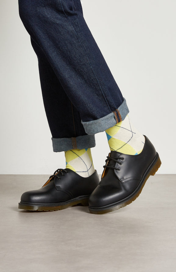 Women's Classic Argyle Socks In Multi Lime