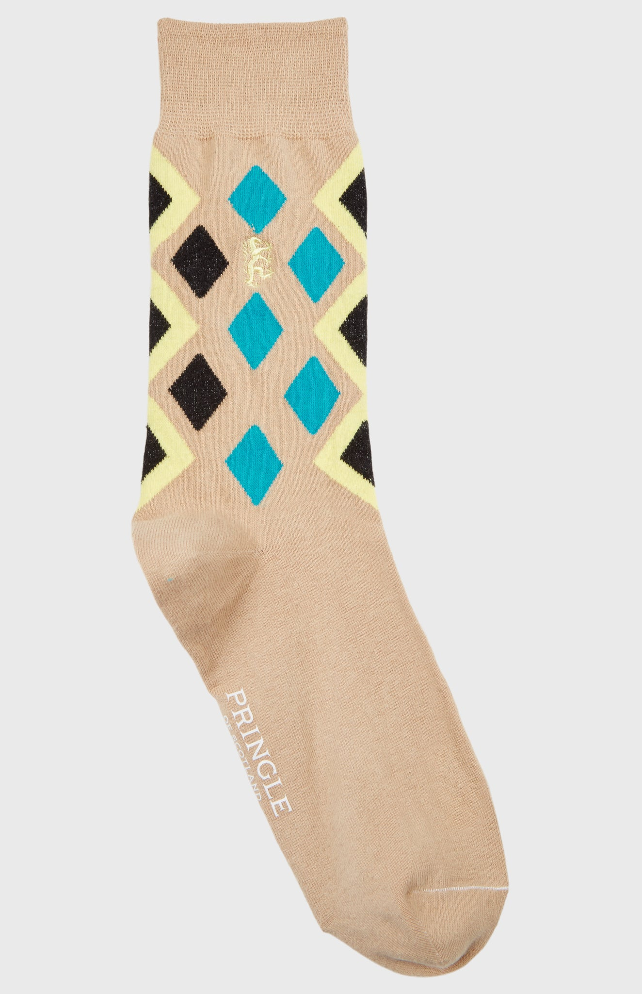Pringle Reissued Women's Diamond Argyle Socks In Camel