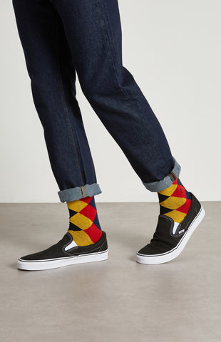 pringle reissued Men's Harlequin Argyle Socks