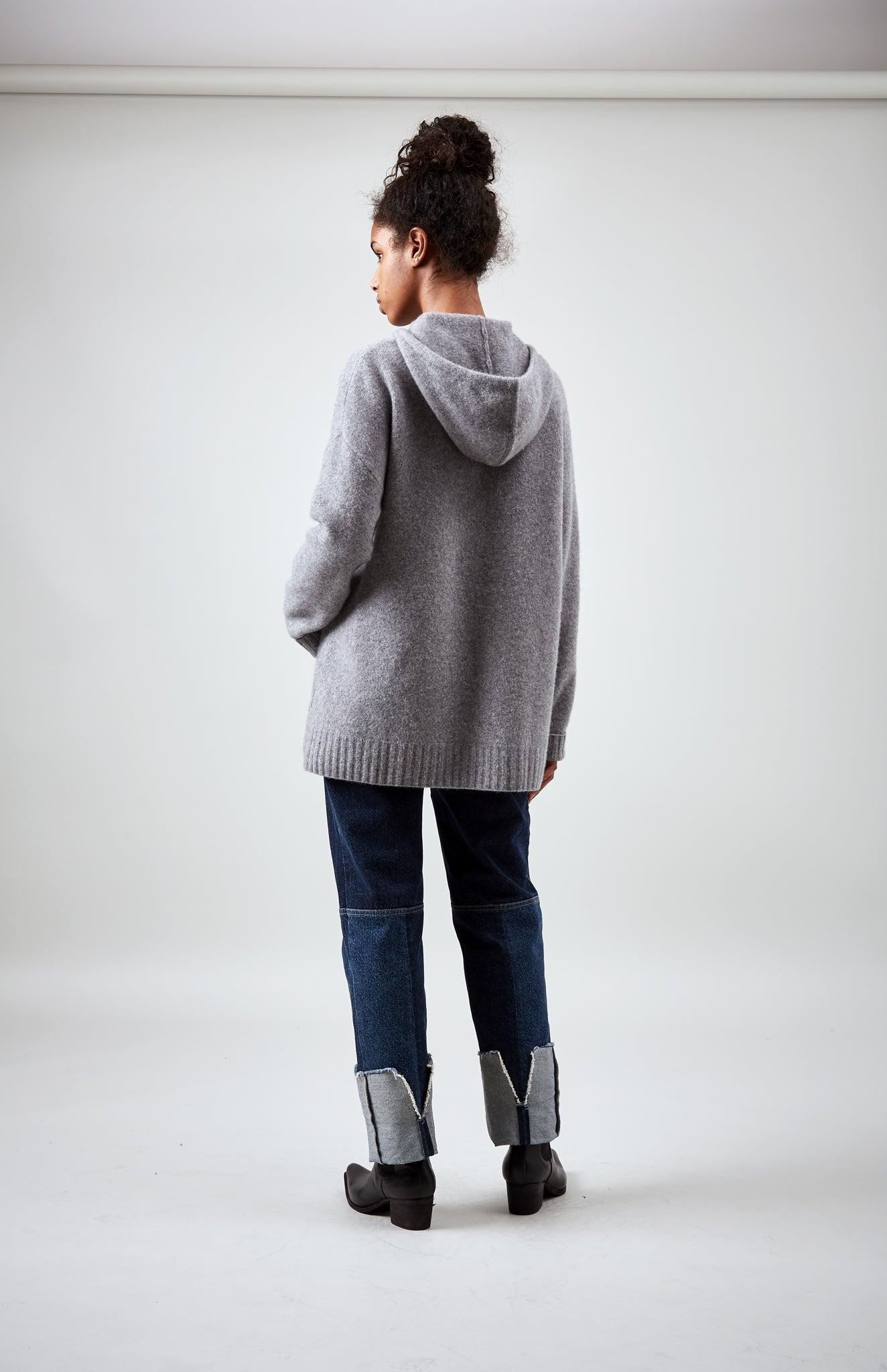 Oversized Soft Hoodie In Grey