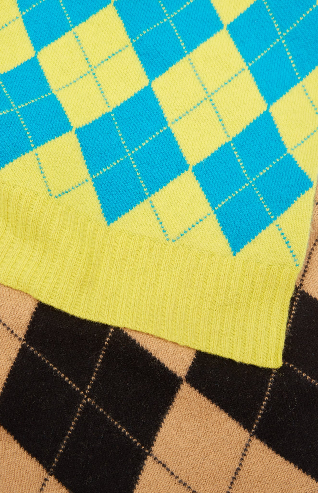 Pringle Reissued Patched Argyle Scarf