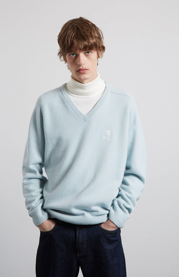 Archive Lambswool Jumper In Blue