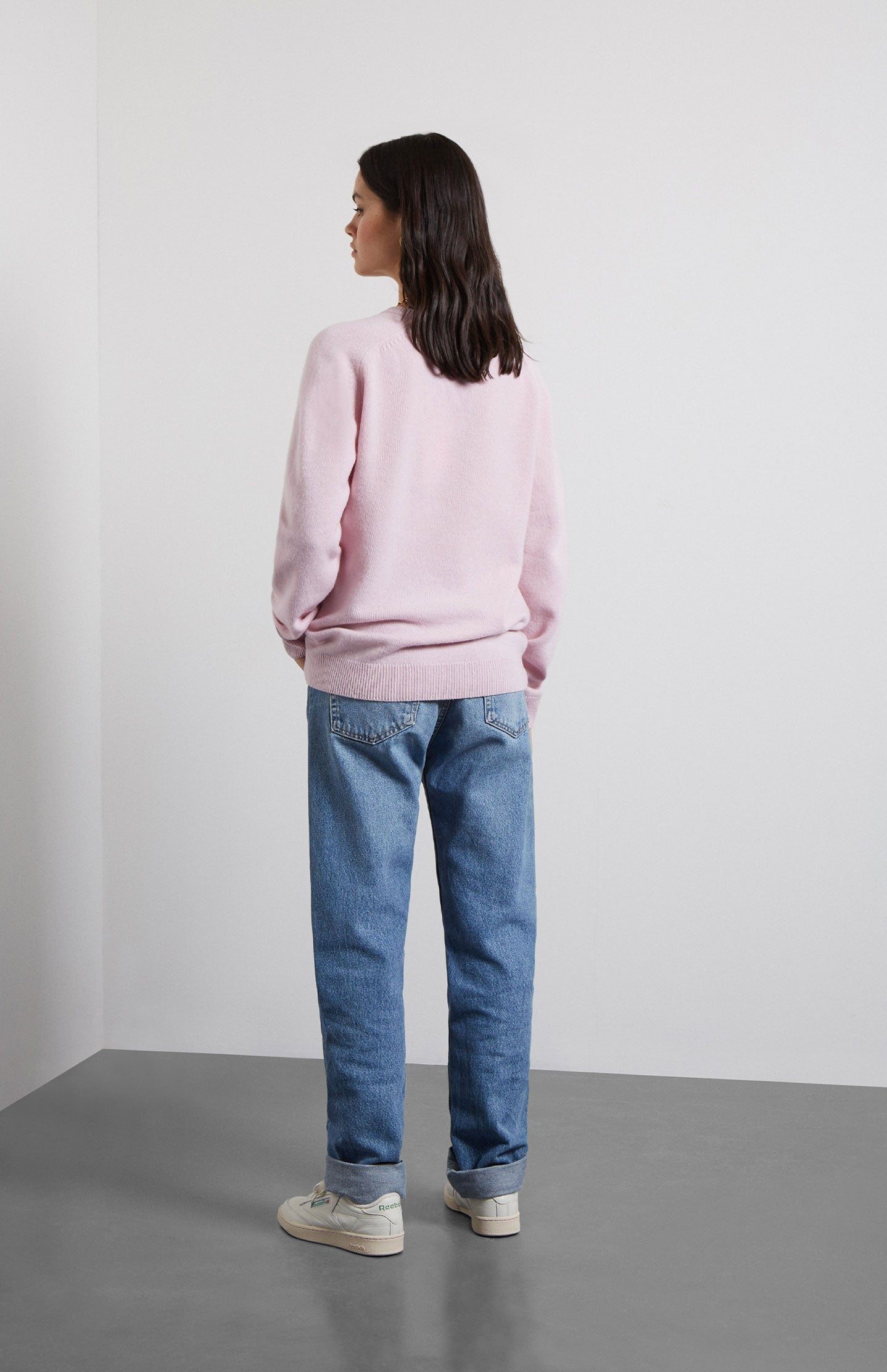 Archive Lambswool Jumper In Pink