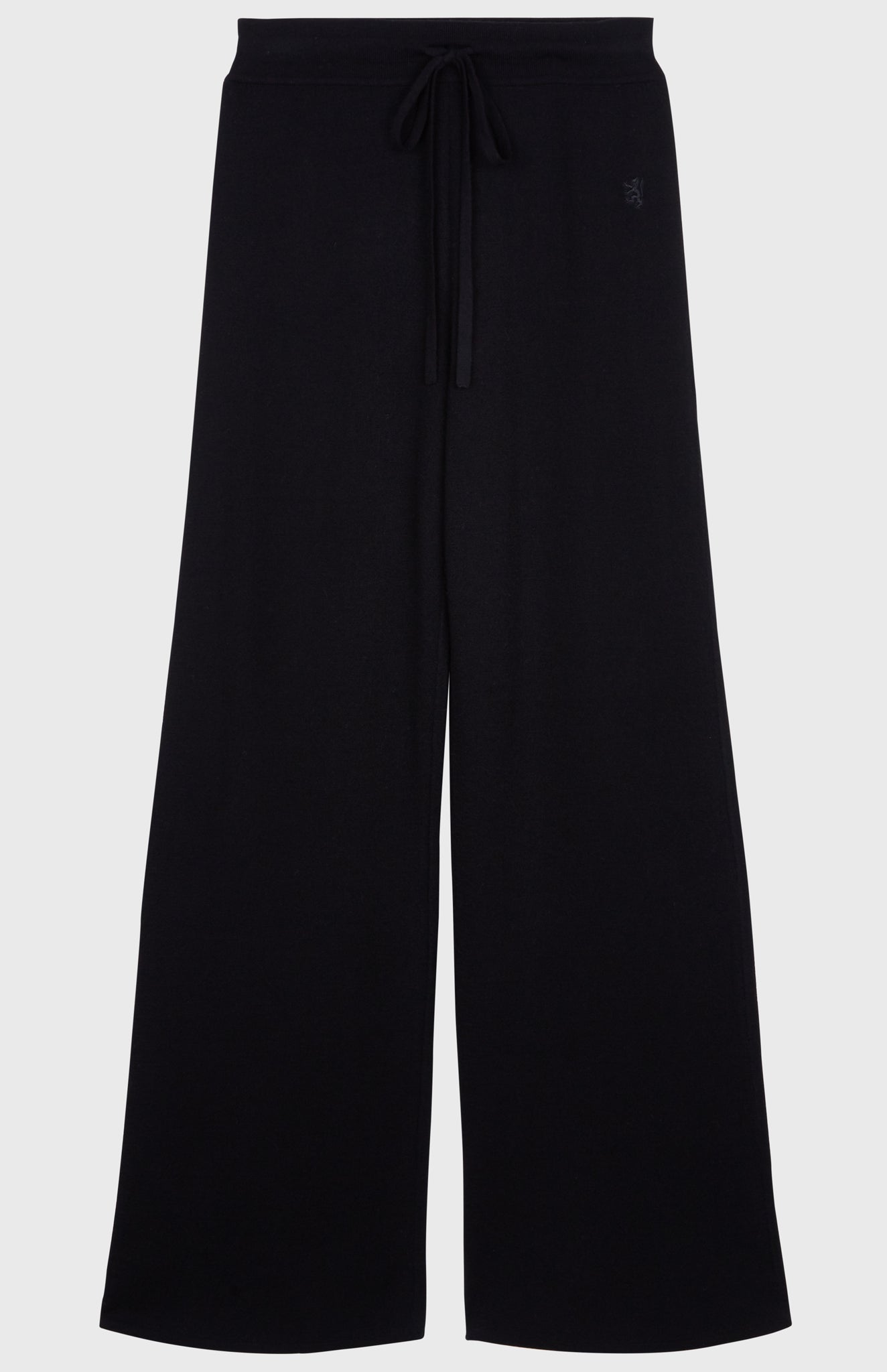 Drawstring Merino Trousers In Black