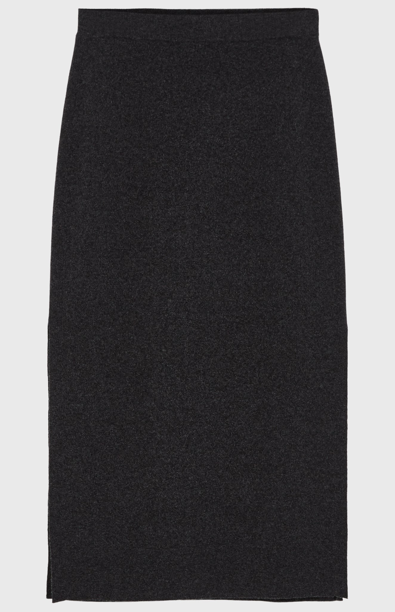 Long Relaxed Fit Skirt In Charcoal