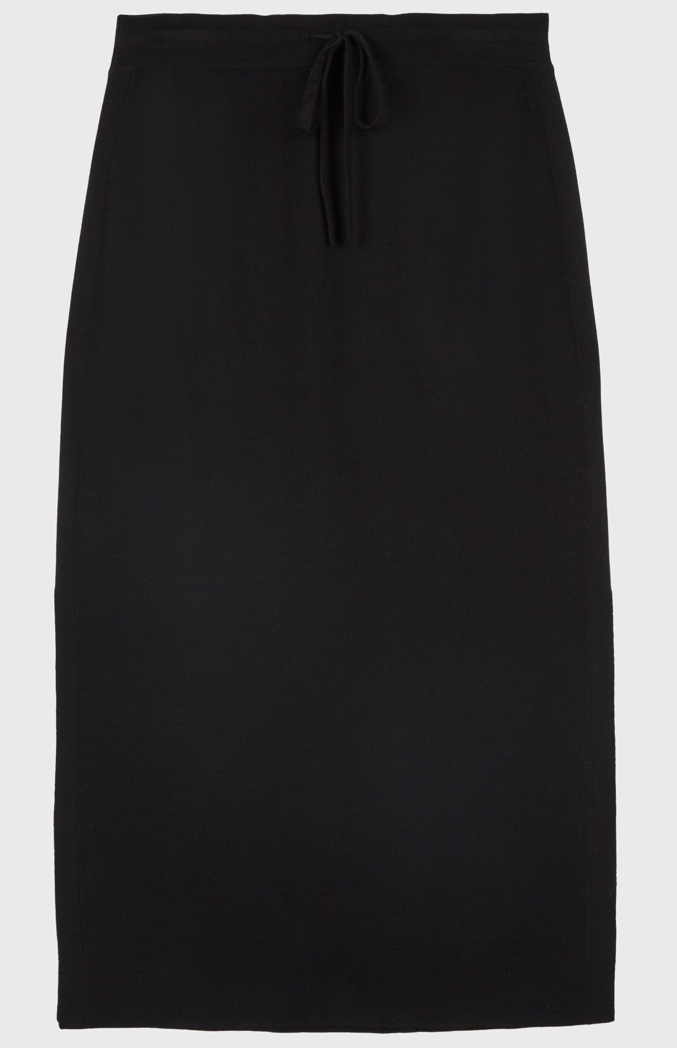 Drawstring Skirt Merino in Black