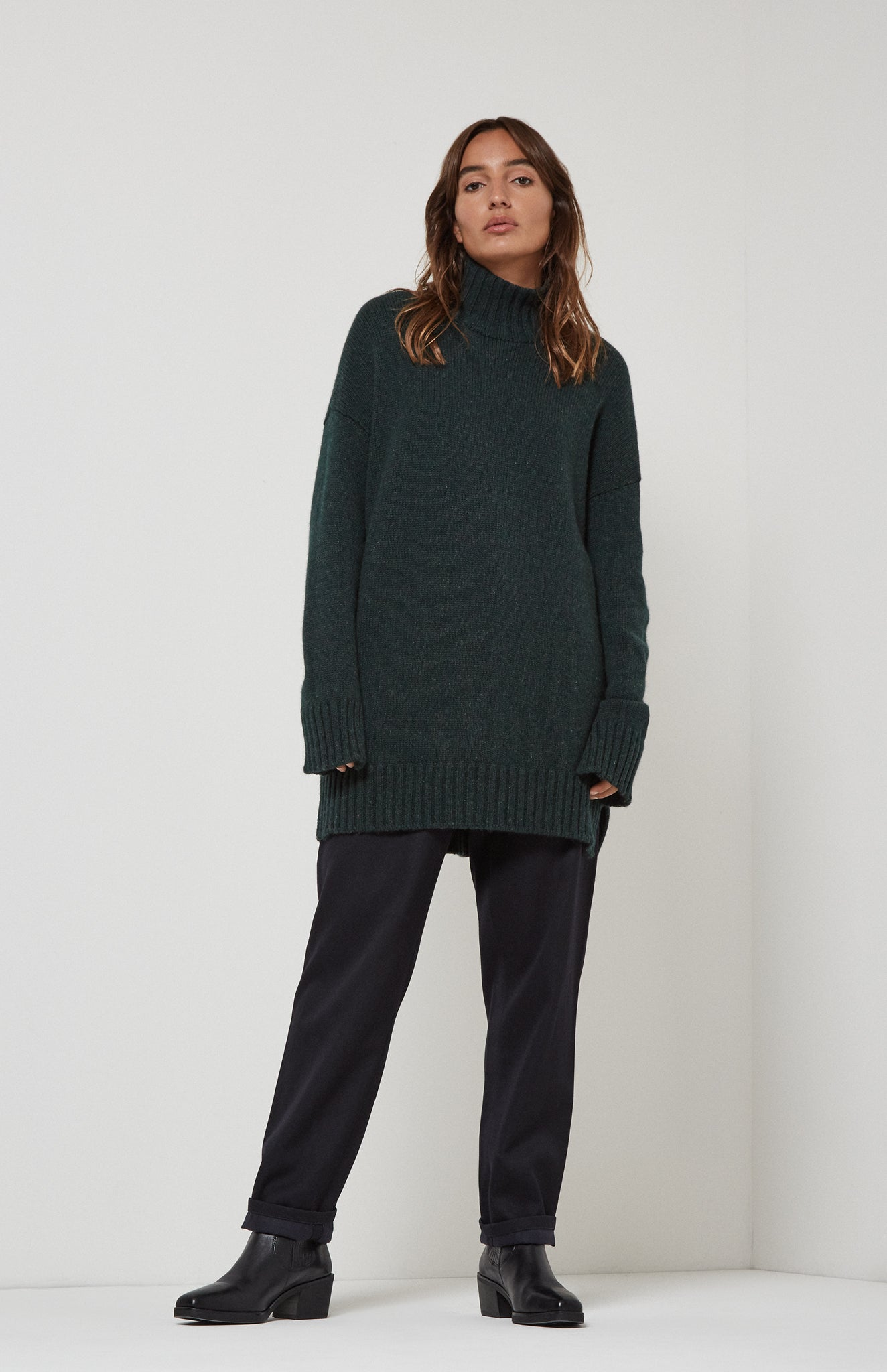 Cosy Cashmere Roll Neck Jumper